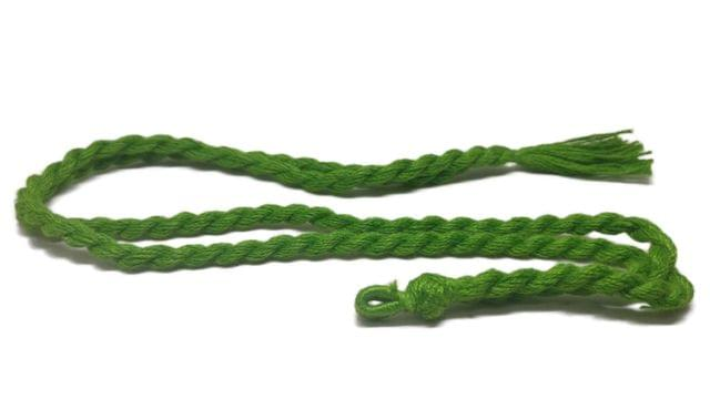 Handmade Jewellery Making Cotton Dori Adjustable Rope Green Pack of 5 Pieces 32inch