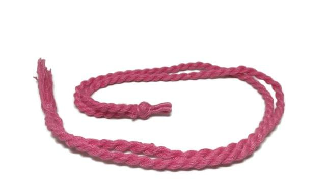 Handmade Jewellery Making Cotton Dori Adjustable Rope Pink Pack of 5 Pieces 32inch