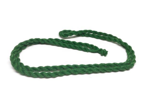 Handmade Jewellery Making Cotton Dori Rope Dark Green Pack of 5 Pieces 30inch