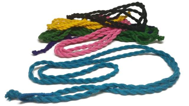 Handmade Jewellery Making Cotton Dori Cord Rope Thick Cord Assorted Colors Pack of 10 Pieces 30inch Long