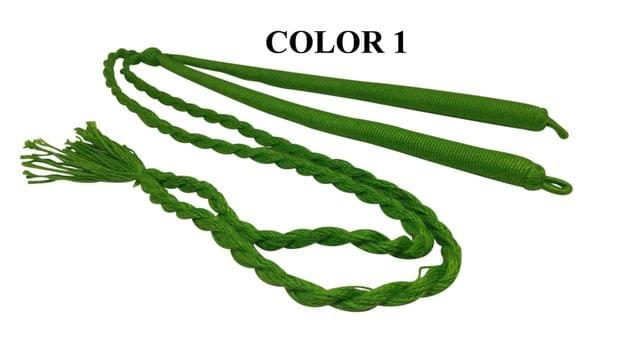 Handmade Jewellery Making Cotton Dori Adjustable Back Rope Braided Green Pack of 5 Pieces 18inch