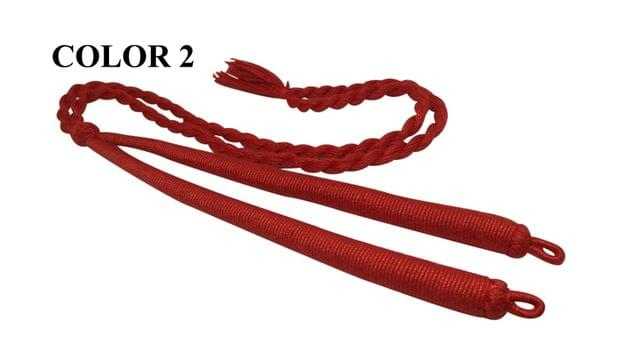 Handmade Jewellery Making Cotton Dori Adjustable Back Rope Braided Red Pack of 5 Pieces 18inch