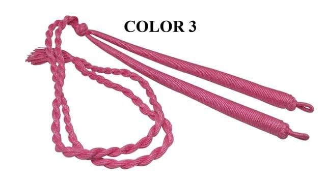 Handmade Jewellery Making Cotton Dori Adjustable Back Rope Braided Pink Pack of 5 Pieces 18inch