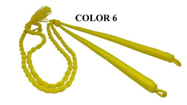Handmade Jewellery Making Cotton Dori Adjustable Back Rope Braided Lemon Yellow Pack of 5 Pieces 18inch
