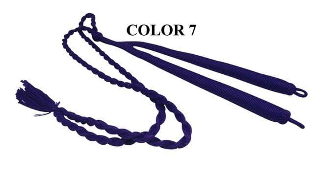 Handmade Jewellery Making Cotton Dori Adjustable Back Rope Braided Dark Blue Pack of 5 Pieces 18inch