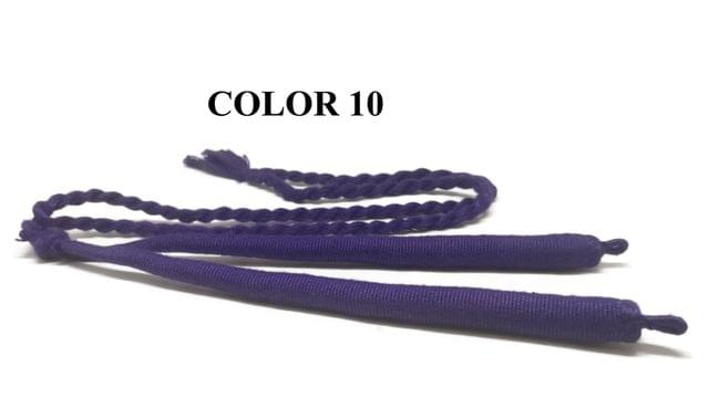 Handmade Jewellery Making Cotton Dori Adjustable Back Rope Braided Purple Pack of 5 Pieces 18inch