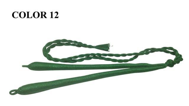 Handmade Jewellery Making Cotton Dori Adjustable Back Rope Braided Dark Green Pack of 5 Pieces 18inch