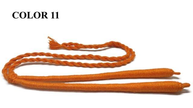 Handmade Jewellery Making Cotton Dori Adjustable Back Rope Braided Orange Pack of 5 Pieces 18inch