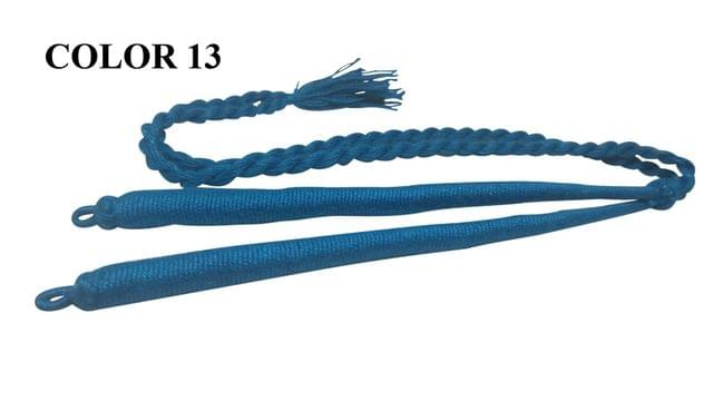 Handmade Jewellery Making Cotton Dori Adjustable Back Rope Braided Blue Pack of 5 Pieces 18inch