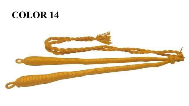 Handmade Jewellery Making Cotton Dori Adjustable Back Rope Braided Light Orange Pack of 5 Pieces 18inch