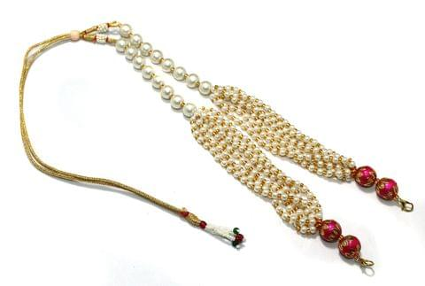 Pearl and Meenakari Beaded Adjustable Dori Magenta, Pck Of 1 Pc