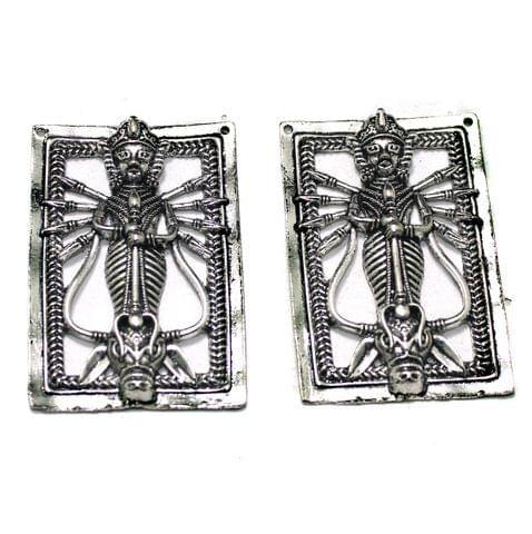 German Silver Pendant, Pack Of 2 Pcs, Size: 59x40mm