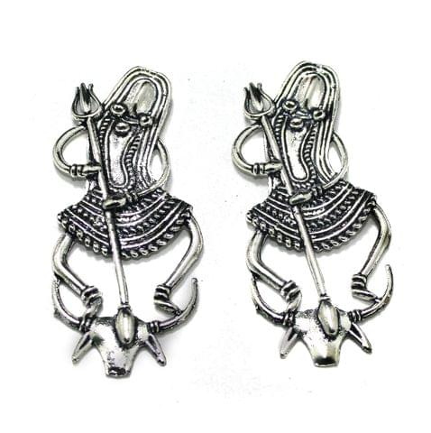 German Silver Lord Shiva Pendant, Pack Of 2 Pcs, Size: 3 Inchs