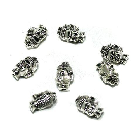 German Silver Buddha Beads, Pack Of 25 Pcs, Size: 13x8mm