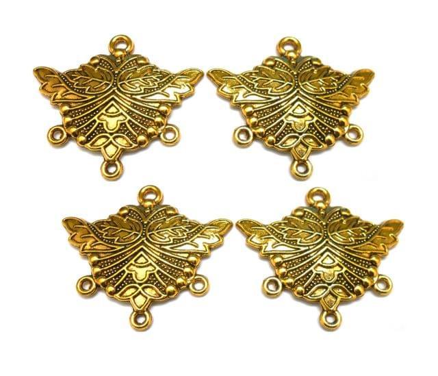combo pendants,antique golden,wings shape,4 pieces,35mm