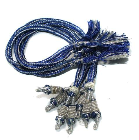 Zari Necklace backrope Dori Blue, Pack Of 12 Pcs