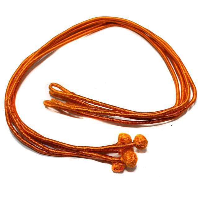 Thread Necklace backrope Dori Orange, Pack Of 12 Pcs
