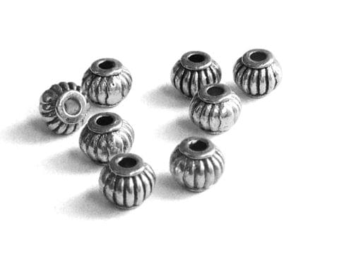 Metal Alloy Bead Spacers For Jewellery Making 5x4mm (180 Pieces) Drum Lantern Antique Silver Color