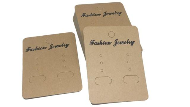 Paper Earring Display Card Strips 2.64x2inch (6.7x5CM) Rectangle Brown (Pack of 100 Pieces)