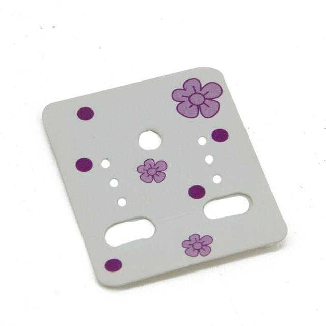 Paper Designer Jewellery Earring Display Cards 4.8x3.8cm Rectangle White (Pack of 50 Pieces)