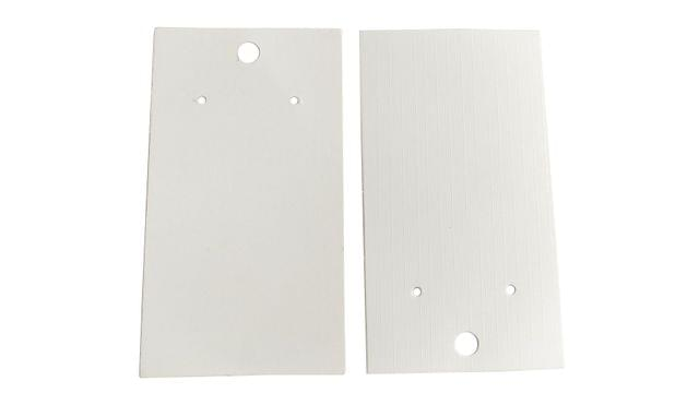 Paper Earring Display Card Strips 3.5x2inch (9x5CM) Rectangle White (Pack of 100 Pieces)