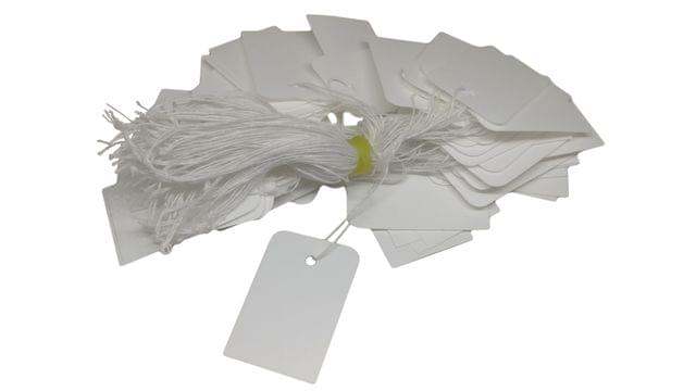 Paper Price Tags 4x2.5cm Rectangle White (Pack of 190 Tags)