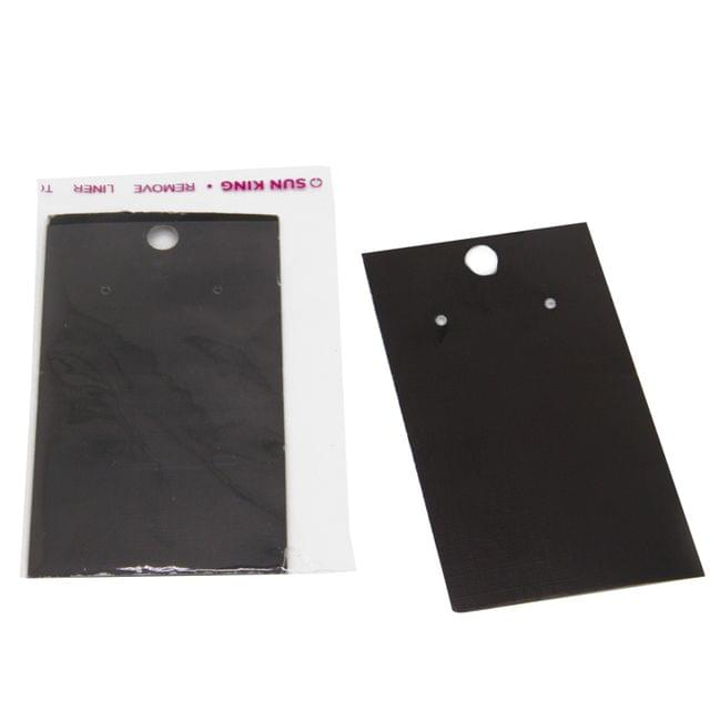 Paper Earring Display Cards 9x5cm with Covers Rectangle Black (Pack of 100 Pieces)