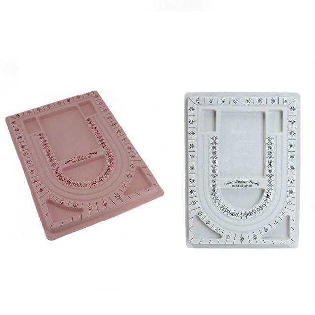 Plastic Bead Designing Tray Board For Jewellery Making 32x23cm Random Color As Available (Sold as 1 piece)
