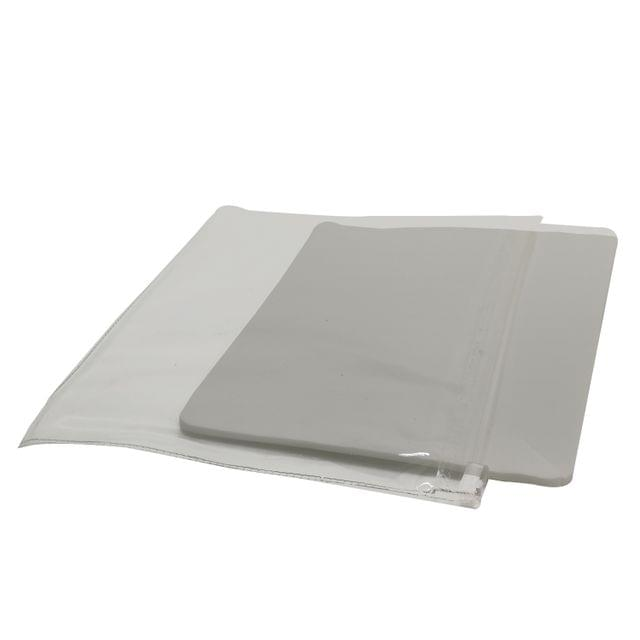 Jewellery Display Packing Zip Pouch with Foam Sponge 17x15cm (7x6 inch) Rectangle White (Pack of 10 Pieces)
