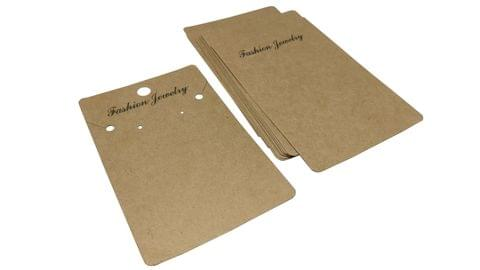 Big Paper Display Earring Card Strips 4x2.5inch (10x6.5CM) Rectangle Brown (Pack of 100 Pieces)