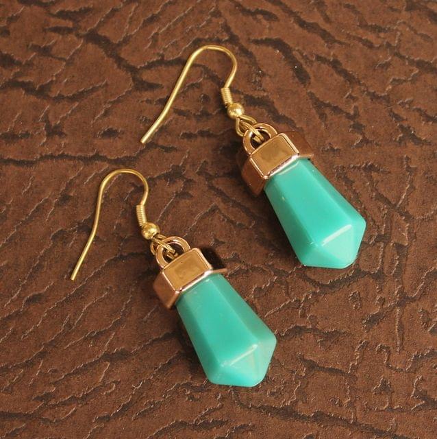 Light Weight Dangler Earrings Turquoise
