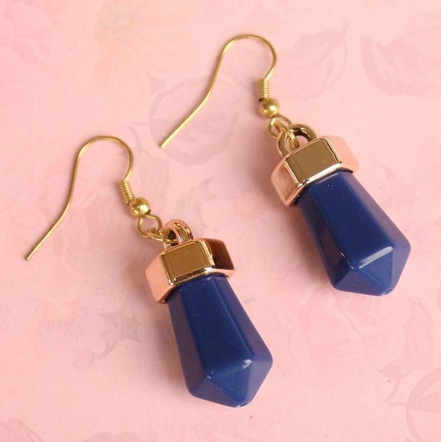 Light Weight Dangler Earrings Blue