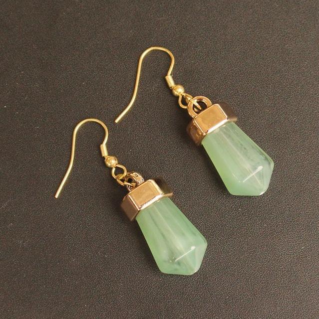 Light Weight Dangler Earrings Olive