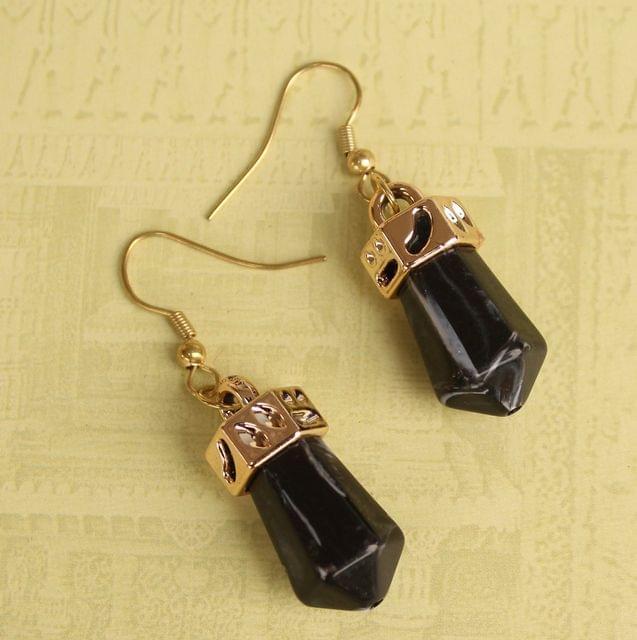 Light Weight Dangler Earrings Black