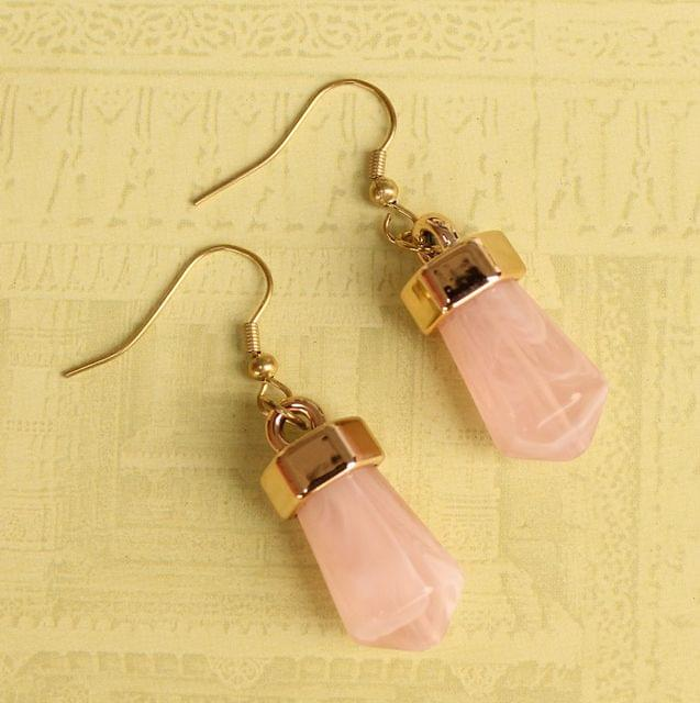 Light Weight Dangler Earrings Pink