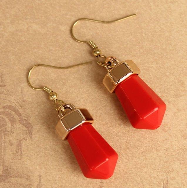 Light Weight Dangler Earrings Red