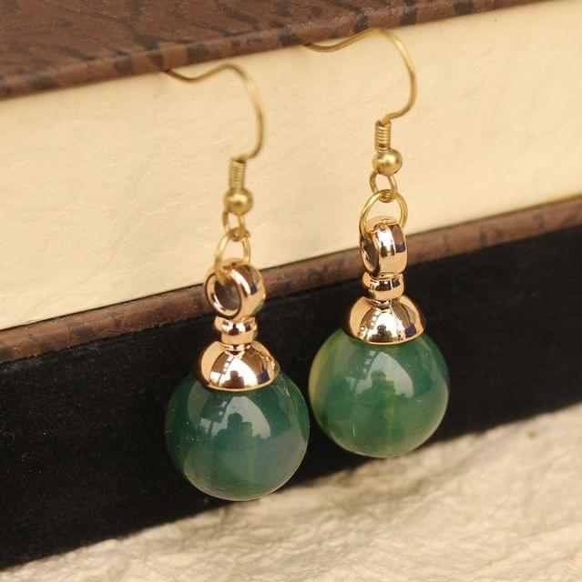 Light Weight Dangler Earrings Green