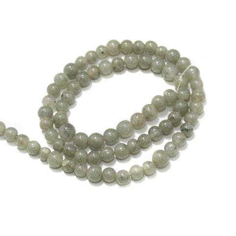 Grey Jasper Gemstone Beads, Size 05-07 mm, Pack Of 1 String