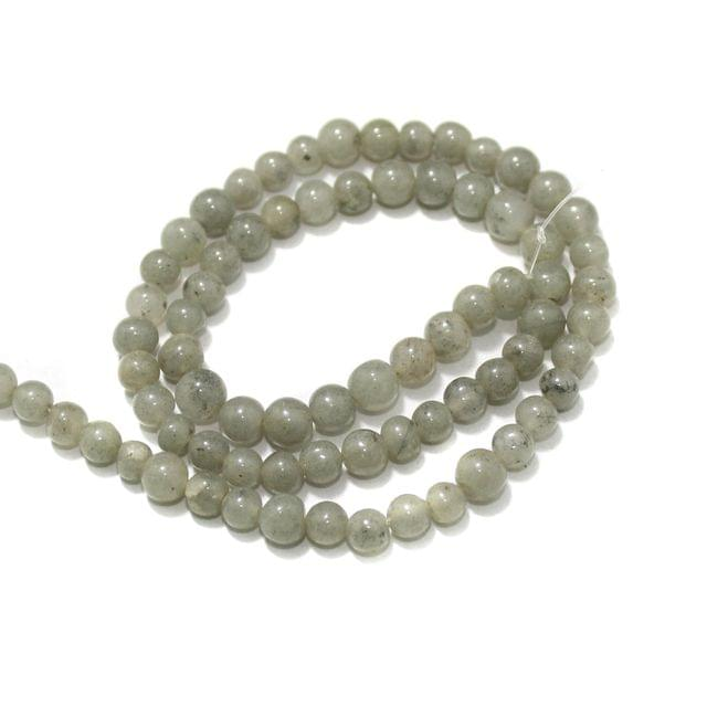 Grey Jasper Gemstone Beads, Size 05-07 mm, Pack Of 1 String