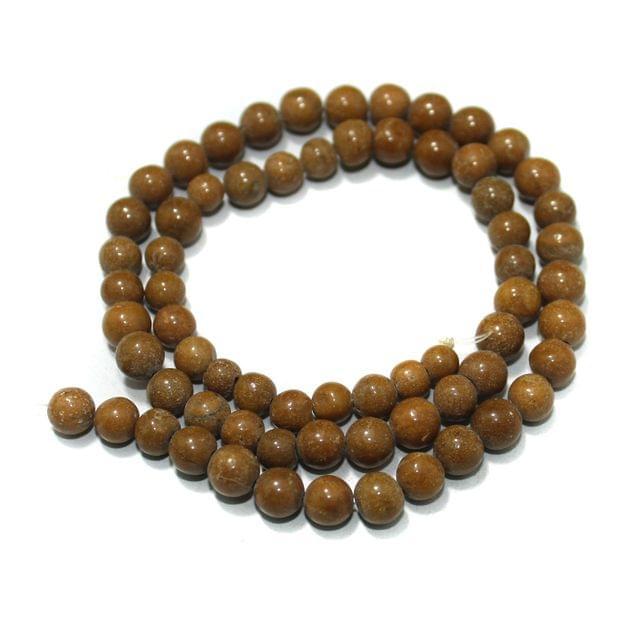 Camel Jasper Gemstone Beads, Size 05-07mm, Pack Of 1 String