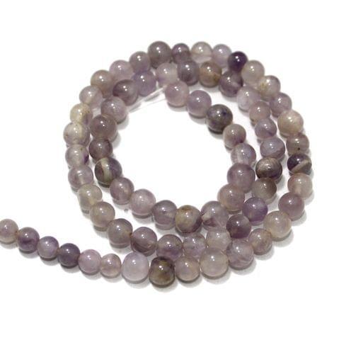Amethyst Light Gemstone Beads, Size 05-07 mm, Pack Of 1 String