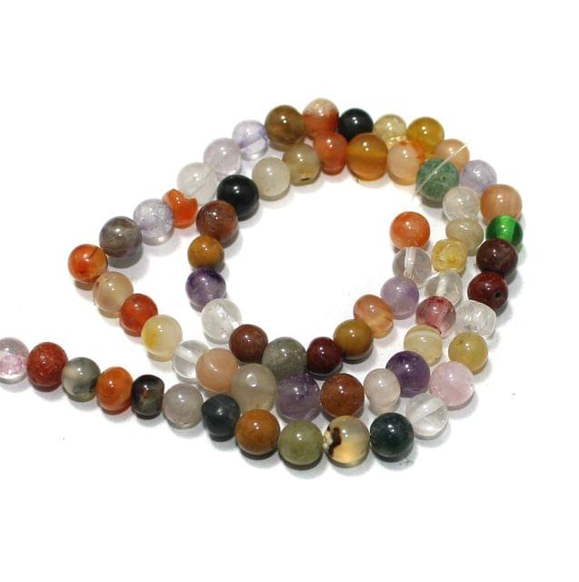 Multi Gemstone Beads, Size 05-07mm, Pack Of 1 String