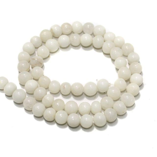 White King Gemstone Beads, Size 07-09 mm, Pack of 1 String