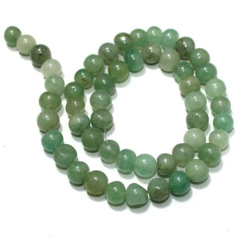 Light Green Gemstone Beads, Size 07-09mm, Pack of 1 String