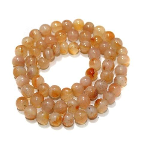 Carnelian Gemstone Beads, Size 07-09 mm, Pack Of 1 String