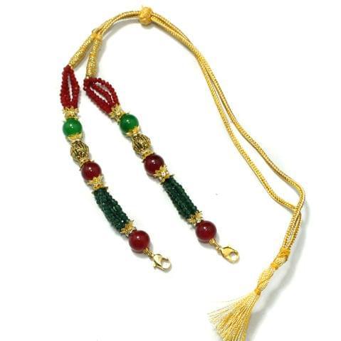 Designer Crystal Beaded Necklace Dori Multi, Pack Of 1 Pc