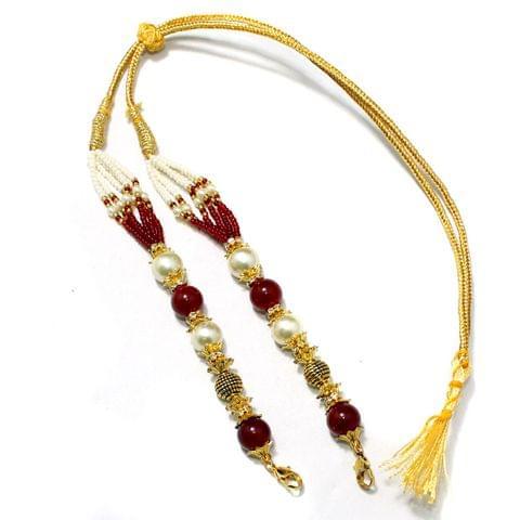 Designer Beaded Necklace Dori Red, Pack Of 1 Pc