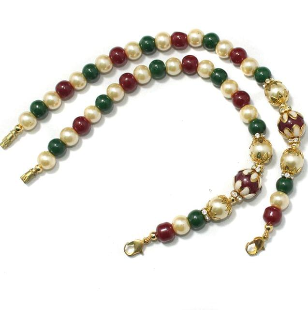 Designer Meenakari Beaded Necklace Dori Multi, Pack Of 1 Pc