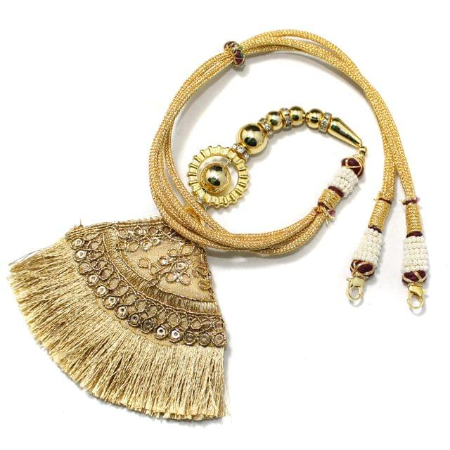 Designer Latkan Zari Back Rope Dori Golden, Pack Of 1 Pc