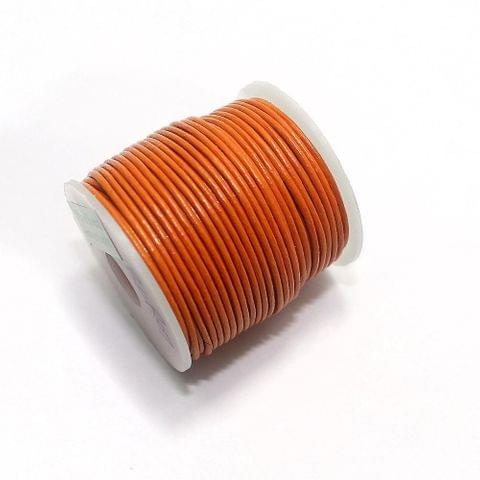 Jewellery Making Leather Cord 2mm Orange